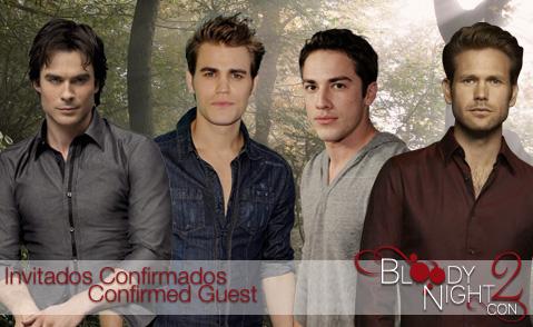 La BloodyNightCon 2 «The Vampire Diaries»  se celebrará el fin de semana del 5 y 6 de Mayo de 2012 en Barcelona.