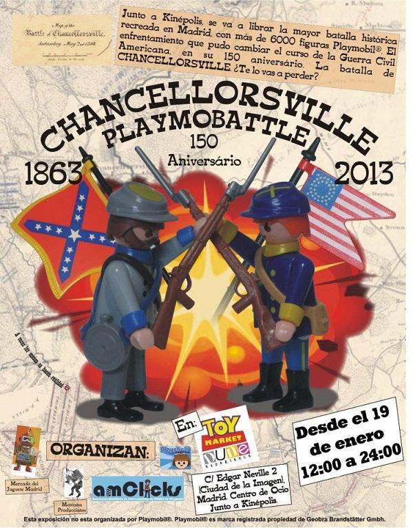 El 19 de enero de 2013 comenzará la batalla de Chancellorsville en Toy Market Dune Experience